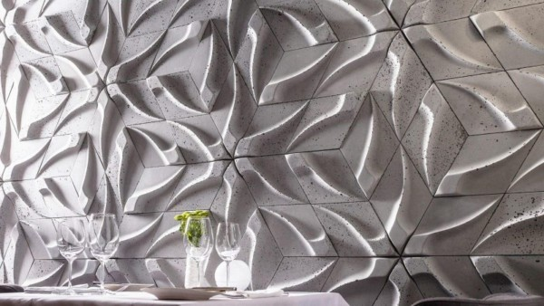 TZARA – płytka betonowa 3d na ścianę