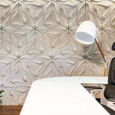 Betonowa płytka dekoracyjna w przestrzeni biurowej?