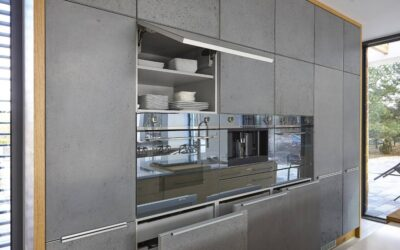 Fronty kuchenne z betonu architektonicznego