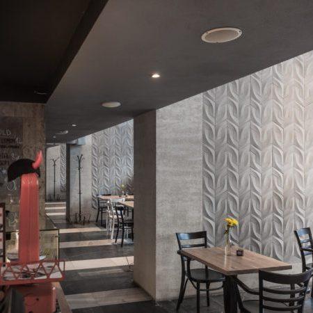 """Beton architektoniczny w restauracji """"Nadwiślański Świt"""""""