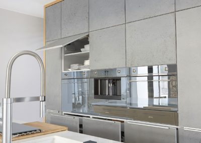 fronty kuchenne z betonu