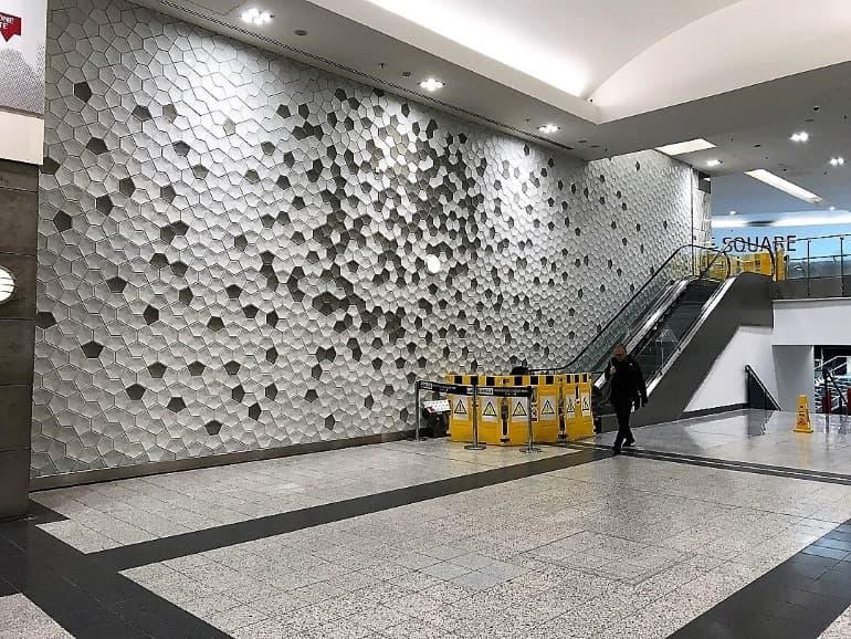 3d concrete wall tiles arndale manchester