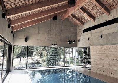 concrete slabs Artis Visio swimmingpool