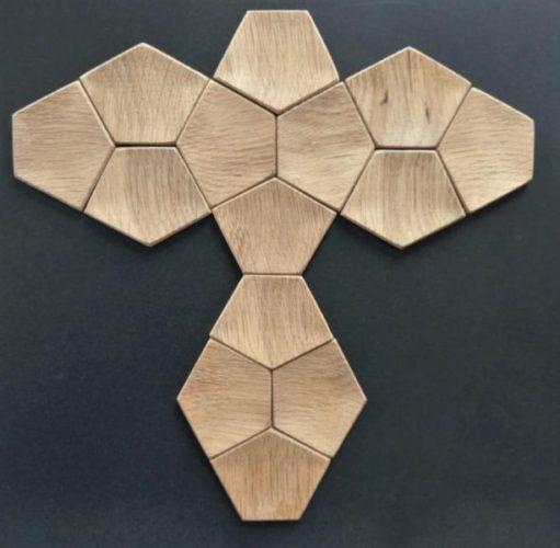 płytki 3d z drewna Artis Visio