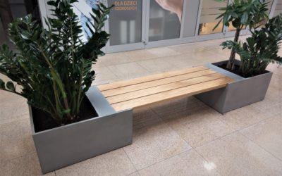 Ławki z betonu w Krakowie