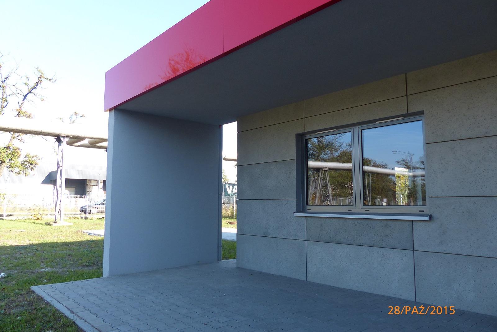 Efekt betonu na elewacji