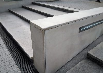 Okładziny betonowe murków