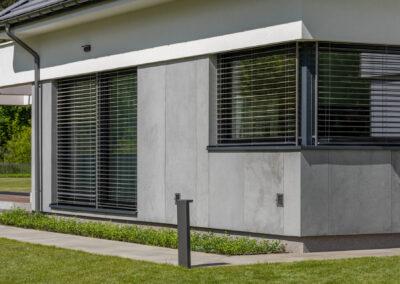ściana willi elewacja betonowa