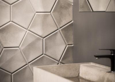 Płytka dekoracyjna z betonu