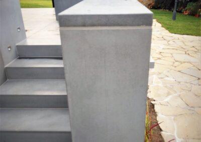 okładzina schodów tarasowych i murki tarasowe